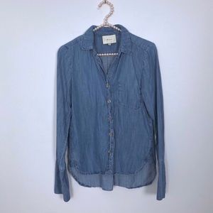 Elevenses High Low Chambray Shirt